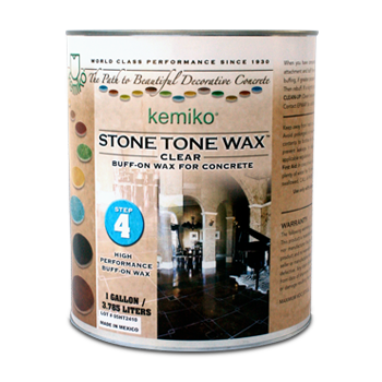 Kemiko Stone Tone Buff-On Wax One Gallon Can
