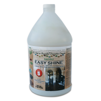 Kemiko Easy Shine Mop On Wax One Gallon Bottle, acrylic polymer wax