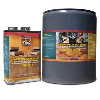 Kemiko Solvent Base Acrylic Sealer One Gallon Can and Five Gallon Can
