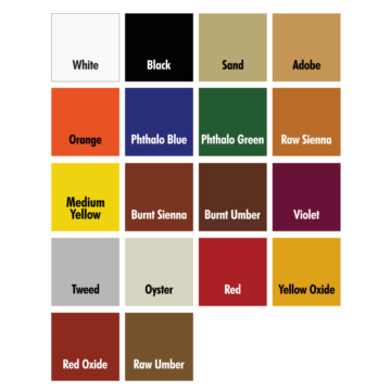 Kemiko Rembrandt Polymer Stain Color Chart