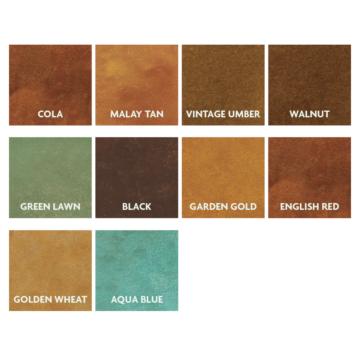 Kemiko Stone Tone Concrete Acid Stain Color Chart