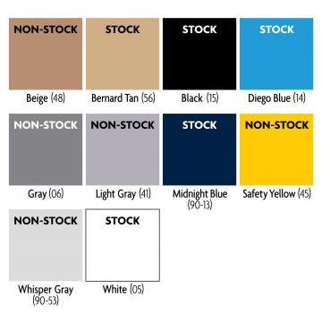 SS1500 Kemiko STA-CRETE 100% Solids Pigmented Epoxy Standard Colors