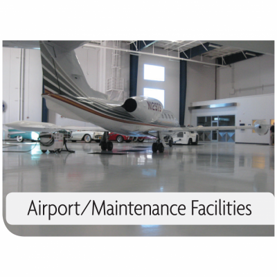 Kemiko Products Application Example - Airport/Maintenance Facilities. Decorative Concrete Made Easy.